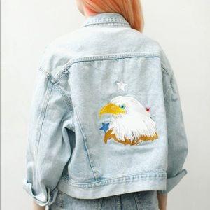 Vintage Guess Jeans Denim America Eagle Jacket